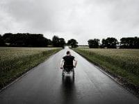 Foto Person i kørestol. Fotograf Morten Germund.