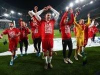 Danmark har kvalificeret sig til EURO2020 mandag 19. november 2019 i Dublin, hvor det danske herrelandshold spillede uafgjort mod Irland. FOTO: Getty Images.