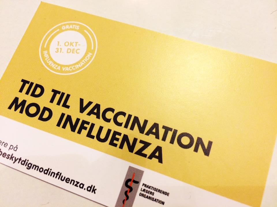 Gratis vaccination mod influenza og lungebetændelse til alle over 65 år